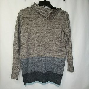 Gap Side Snap Turtleneck Boyfriend Knit Sweater